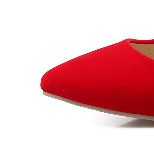 Uppers Spikes Ladies Toe No Pointed Shoes Stilettos BalaMasa Pumps Low Closure Red Cut Urethane a05wZd4qn