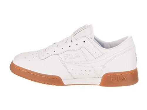 Fila Mens Originale Fitness Lea Classic Sneaker Bianco / Bianco / Gomma