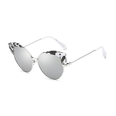 Burenqi@ Lunettes de soleil Œil de chat femmes polarisée ovale Rétro lunettes de soleil Lunettes de luxe Nouvelle mode femelle UV400