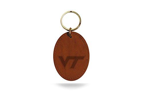 NCAA Virginia Tech Hokies Leather Keychain (Virginia Tech Keychain)
