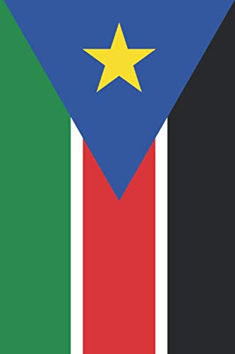 South Sudan Flag Notebook - South Sudanese Flag Book - South Sudan Travel Journal: Medium College-Ruled Journey Diary, 110 page, Lined, 6x9 (15.2 x 22.9 cm)