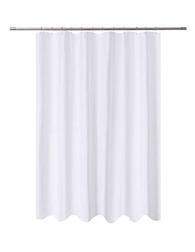 N&Y HOME Fabric Shower Curtain Liner White Extra Long 72 x 84 inch, Hotel Quality, Washable, Water Repellent, Spa Bathroom Curtains with Grommets