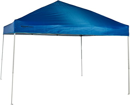 (AmazonBasics Pop-Up Canopy Tent - 10' x 10', Blue)