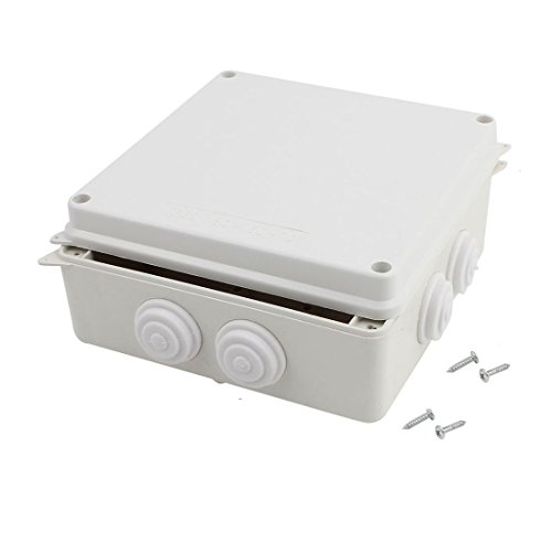 Awclub ABS Plastic Dustproof Waterproof IP65 Junction Box Universal Electrical Project Enclosure White 6