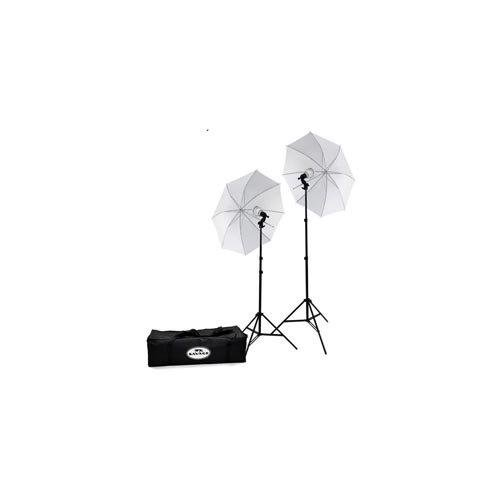 2 Studio 500 Light (Savage LED60K 500 Watt LED Studio Light Kit with 2 Lights, 2 Stands, 2 Umbrellas & Case)