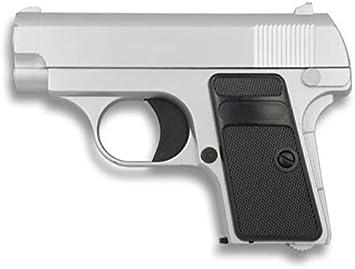 Golden Eagle Pistola Mini Metalica Potencia 0,46 Julios 223 fps Airsoft Replica Paintball Caza Supervivencia tactico Senderismo Camping Outdoor 35501 + Portabotellas de regalo