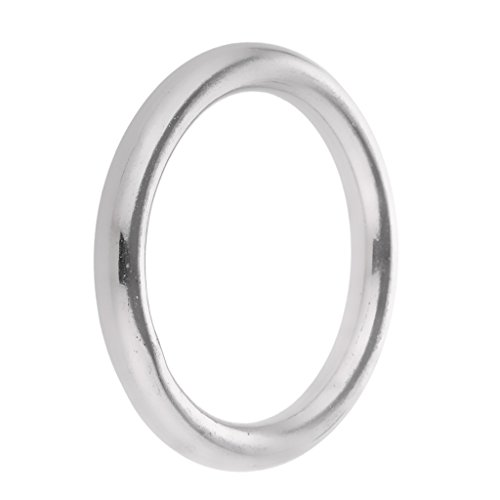 Jili Online High Strength Marine 304 Stainless Steel Welded Round O Rings Boat Rigging Hardware 1.6/2/2.4/2.8/3.1/3.5/3.9 Diameter - Silver, 8 x 70mm