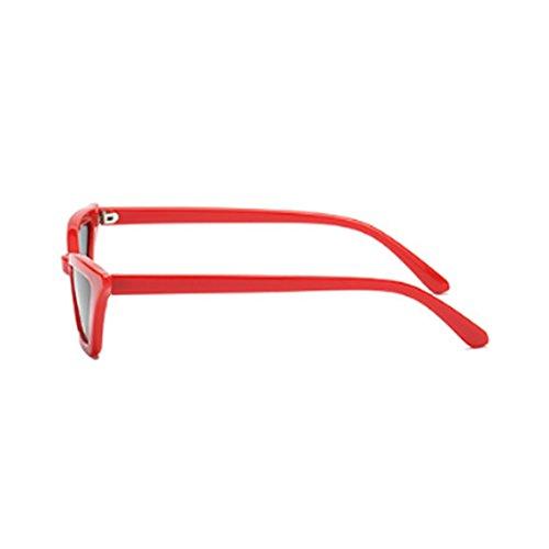 vintage Negro Gafas Gris Rojo de Gafas Yefree mujeres de Gafas de plástico ojo de sol pequeñas gato retro vintage marco sol qfptH4g
