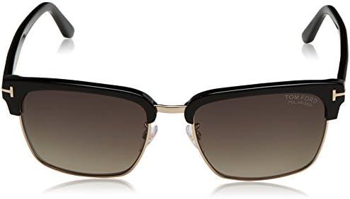 10add93107 Tom Ford Men's Polarized FT0367-01D-57 Black Square Sunglasses: Tom ...
