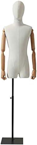 SGMYMXテーラーダミー 男性テーラーダミー、仕立て屋のための白い胴体バストショーケースモデル、ドレスショー テーラーのダミー (Color : B)