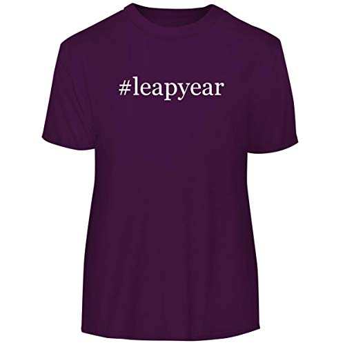 (#LeapYear - Hashtag Men's Funny Soft Adult Tee T-Shirt, Purple, XXX-Large )