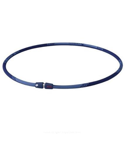 Phiten Titanium Necklace X30 Edge, Navy, 22 Inch - Titanium Sport Health Necklace
