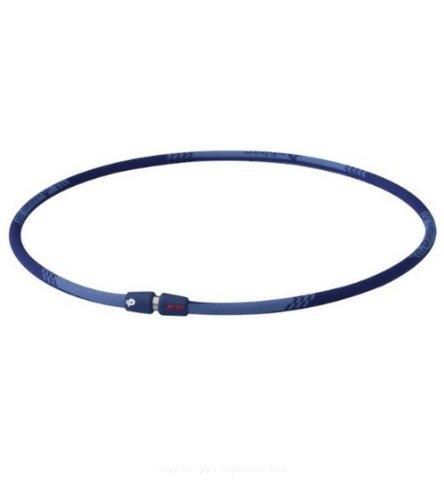 Phiten Titanium Necklace X30 Edge, Navy, 22 (Phiten X 30 Titanium Necklace)