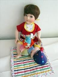 Paradise Galleries Andrew Porcelain Doll