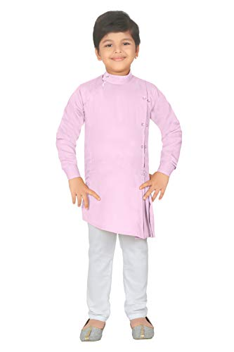 (ahhaaaa Kids Indian Ethnic Collection Kurta and Pyjama Set for Boys_PNK421-10)