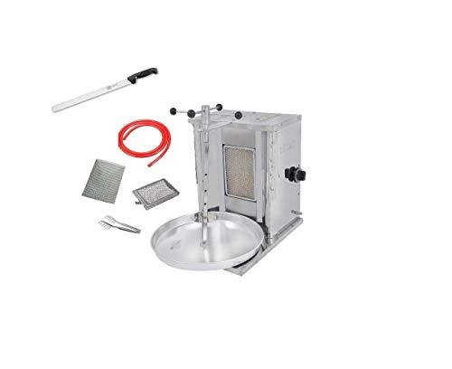Alpina Doner Kebab Machine |Döner Kebab Grill Machine 1 Burner LPG - Propane Vertical Broiler |Full Economic Set Meat Capacity 10 kg / 20 lbs. Grill & GYRO & SHAWARMA ()
