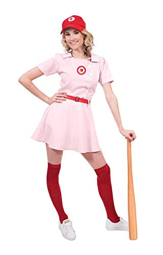 Rockford Peaches Women's Costume Baseball Uniform - Small Pink -