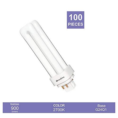 ODD13W/4P/27K 13W Quad(Double) Tube CFL-4 Pin-2700K, G24q1 Base Compact Fluorescent Lamp, 6 Piece ()
