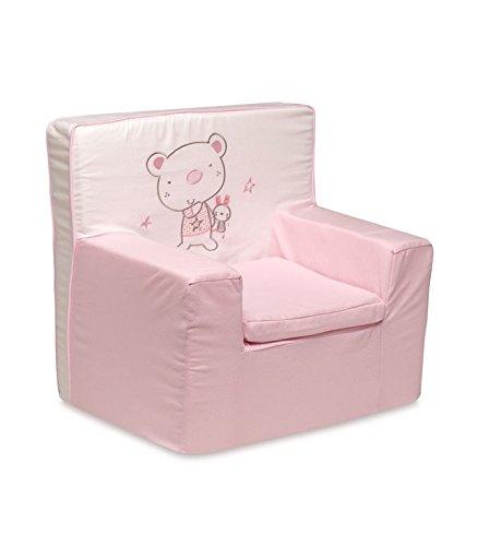 pirulos 32013014–Sessel Motiv Bär Star, Baumwolle, 53x 49x 27cm, Farbe Weiß und Rosa