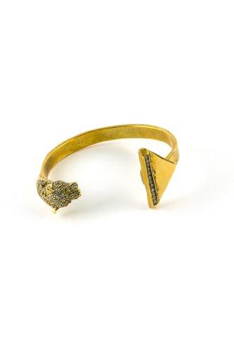 Iosselliani Bracelet Manchette Laiton Cristal Femme