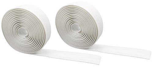 Domain Cycling EXTRA LONG Gel Bicycle Handlebar Bar Tape Wrap for Road Bikes and Cycling (White Road Bicycle)