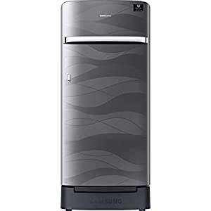 Samsung 198 L 4 Star Inverter Direct-Cool Single Door Refrigerator (RR21T2H2XNV/HL, Inox Wave, Base Stand with Drawer)