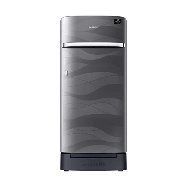 Samsung 198 L 4 Star Inverter Direct-Cool Single Door Refrigerator (RR21T2H2XNV/HL, Inox Wave, Base Stand with Drawer) 2021 August Direct-cool refrigerator : Economical and Cooling without fluctuation Capacity 198 liters: Suitable for families with 2 to 3 members and bachelors Energy rating 4 Star : high efficiency model