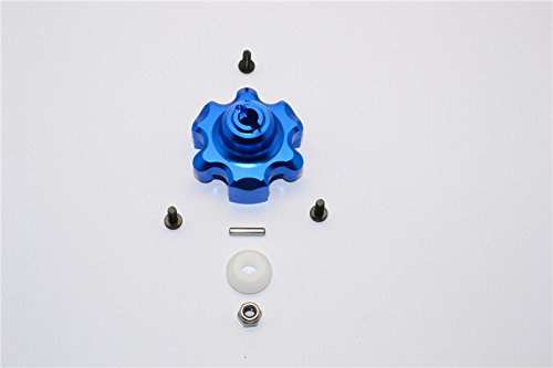 (Traxxas X-Maxx 4X4 Upgrade Parts Aluminum Spur Gear Adapter - 1Pc Set Blue)