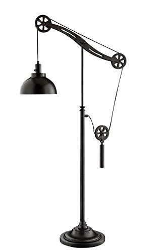 - Lite Source Garrett Dark Bronze Industrial Pulley Floor Lamp