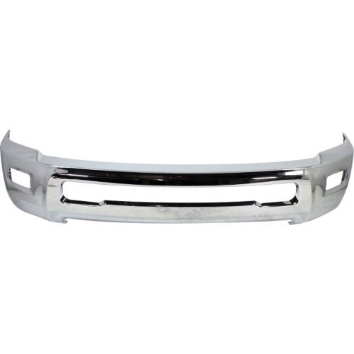 - Evan-Fischer EVA173070613126 Front Bumper Chrome For 2010-2017 Dodge Ram 2500 3500 w/Foglamp