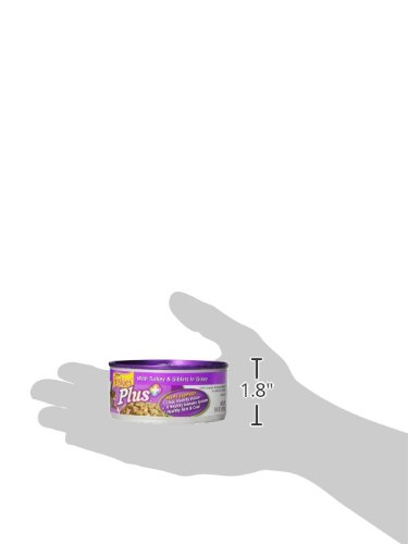 Friskies Wet Cat Food, Plus+, Turkey and Giblets in Gravy, 5.5-Ounce Can, Pack of 24