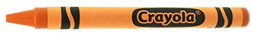 50 Orange Crayons Bulk - Single Color Crayon Refill - Regular Size 5/16 x 3-5/8