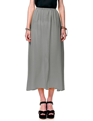 - Regna X Boho for Womans Cool Stylish Textured Grey 3XL Plus Maternity Tall Full Long Chiffon Dress Skirt