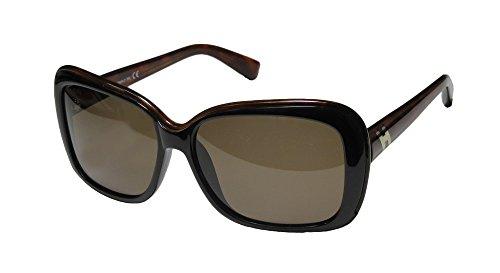 Hogan 03 Womens/Ladies Designer Full-rim 100% UVA & UVB Lenses Sunglasses/Eyewear (57-14-135, Black / - Sunglasses Hogan