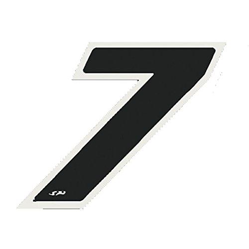 Numero'7' nero 9 cm