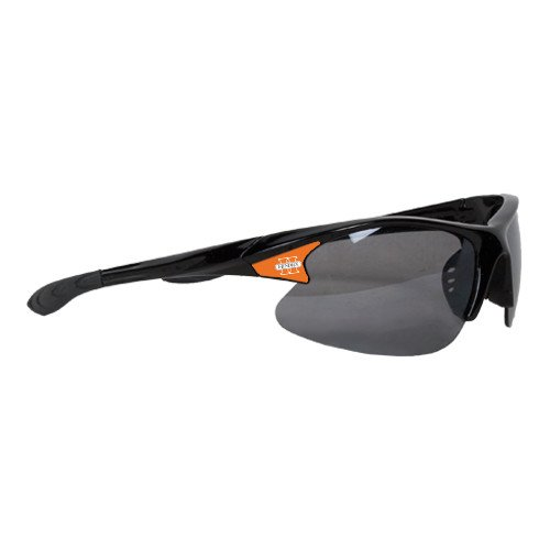 Hendrix Mens Black Sporty Sunglasses 'Official Logo' by CollegeFanGear