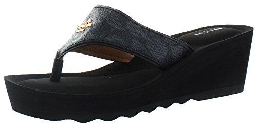 Coach Janice Leather Sandals Signature