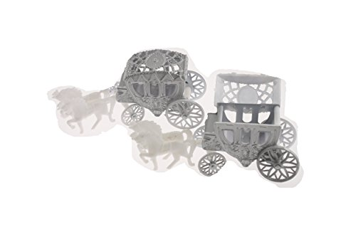 Wedding Carriage Favor Plastic - Silver (The Wedding Coach)
