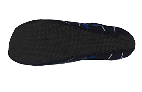 Tinton Beach Barefoot Aqua Water Socks For Beach Pool Sand Swim Yoga or Gym Black Blue Ypxs0