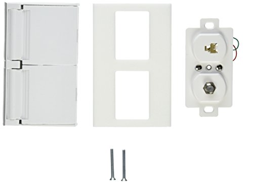 Winegard WT1120 White TV/Phone Cable Receptacle (Outdoor Tv Receptacle)