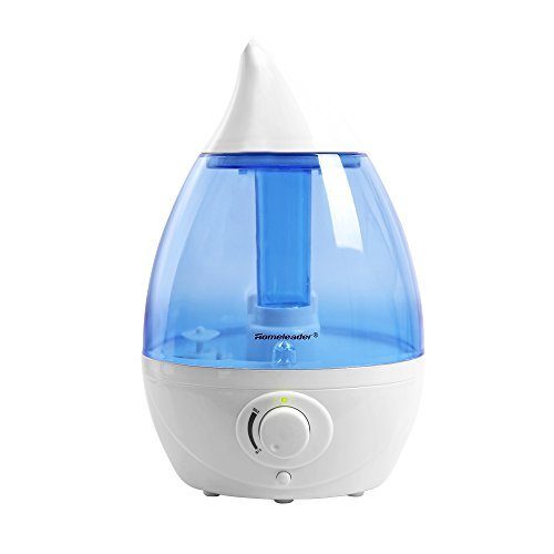 Homeleader 1.6L Air Humidifier, Ultrasonic Cool Mist Air Humidifier with Color-Changing LED Lights for Yoga Spa Home Office Babies, Quiet Operation