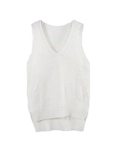 Sweater Longue Vrac V Chandail Fille Col Femme Tricot Pull En Beige Manche wRqZUq1