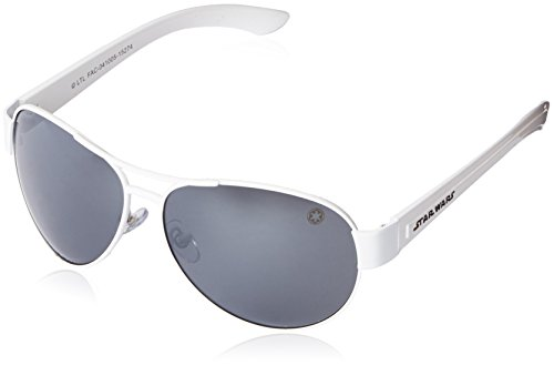 Star Wars Adult Storm Trooper 2 Aviator Sunglasses, White, 62 mm by Foster - Sunglasses Stormtrooper