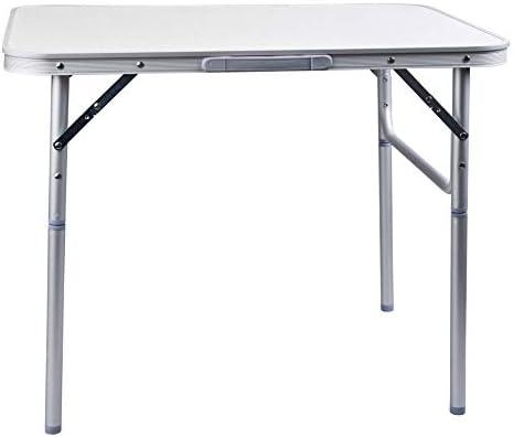 CAMP ACTIVE Tavolo in Alluminio Pieghevole Campeggio Tavolo 75x 55cm Giardino Tavolo Tavolino Pieghevole Tavolo da Picnic in Alluminio Tavolo Pieghevole e Regolabile in Altezza