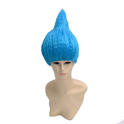 Womens Colorful Halloween Costume Daily Party Natural Looking Wig (Sky blue)
