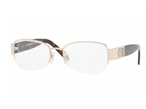 Burberry Eyeglasses B 1093 B1093 1002 Optical Gold Tortoise B1093-1002 - Eyeglasses Burberry Rimless