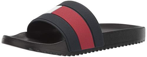 Tommy Hilfiger Men's Ranch Slide Sandal Black 13 Medium -