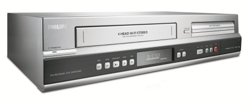 Philips DVDR3545V/37 1080p Upscaling DVDR/VCR Combo with Built-In Tuner ()