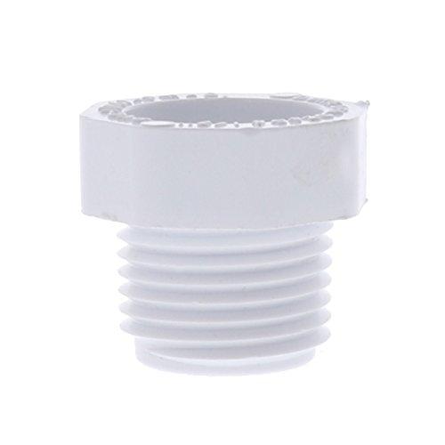 Drip Depot Schedule 40 PVC MPT Plug - Size : 1/2 - Plug Pvc 1/2