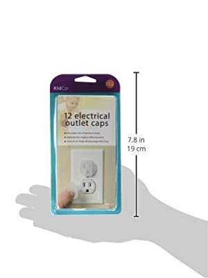 KidCo Electrical Outlet Caps - Clear - 12 ct